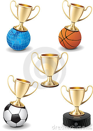 Free Isolated Gold Shiny Trophy Cup Icon Sport Set Stock Photos - 17932803
