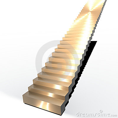 Isolated Gold Stairs