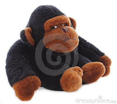 Isolated Gorilla Stuffed Animal