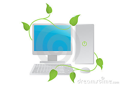 Isolated green ecology computer