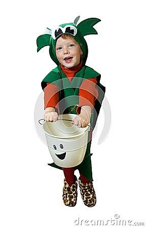 Isolated Halloween Kid