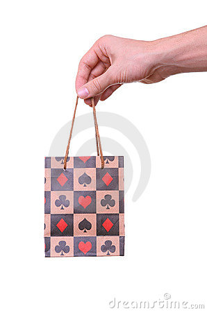 Free Isolated Hand Holding Shopping Paper Bag Stock Photos - 18680543