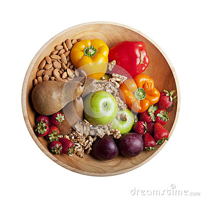 Free Isolated Healthy Paleo Foods In Bowl Royalty Free Stock Photo - 27432355