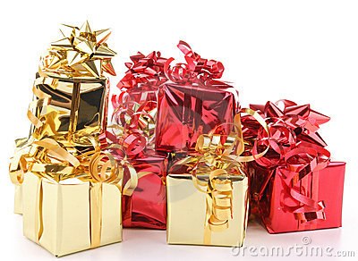 Isolated heap of presents