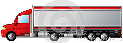 Isolated heavy truck