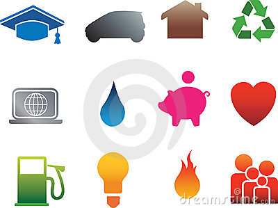 Isolated home flat icons