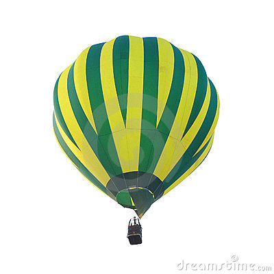 Isolated hot air balloon
