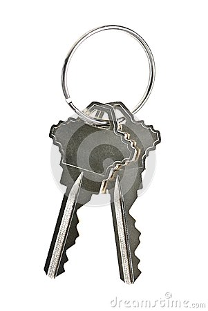 Isolated house keys