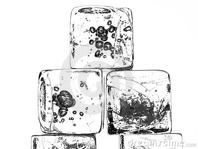 Isolated Ice Cubes