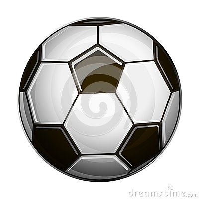 Free Isolated Illustration Of Black And White Soccer Ball Stock Photo - 117930680