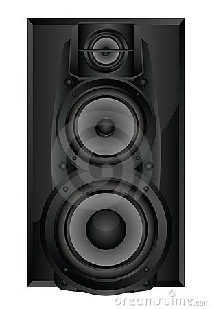 Isolated image of audio speaker