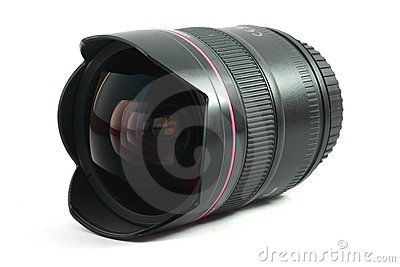 Isolated image of a fisheye lens