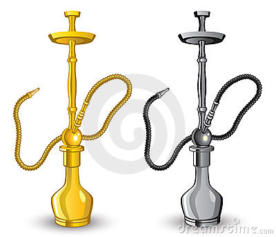 Isolated image of hookah