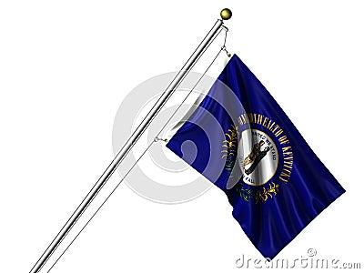 Isolated Kentucky Flag