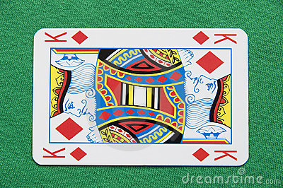 Isolated King Playing Card