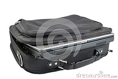 Isolated laptod and case