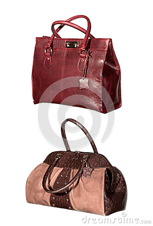 Free Isolated Leather Bags Royalty Free Stock Photography - 28199887
