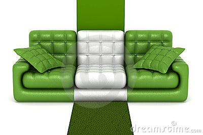 Isolated leather sofa.