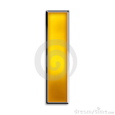 Isolated Letter I In Shiny Gold Royalty Free Stock Photo - Image ...