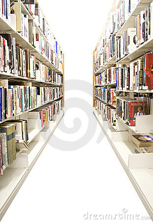 Free Isolated Library Shelves Stock Photo - 6640400