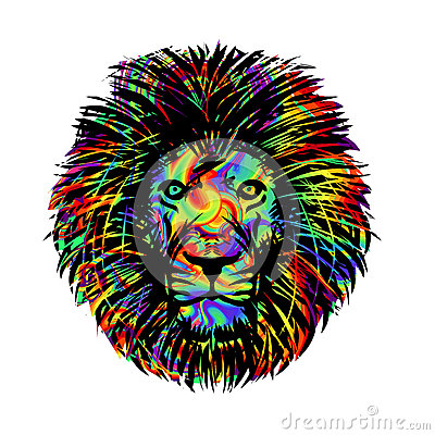 Isolated lion head Vector Illustration
