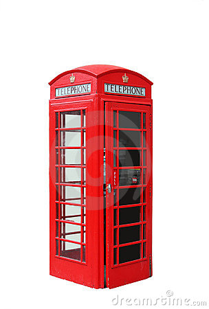 Free Isolated London Telephone Booth Royalty Free Stock Photography - 7221347