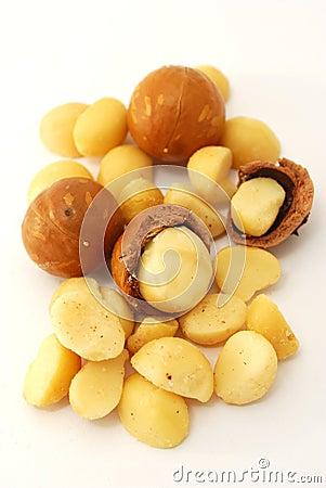 Isolated macadamia nuts