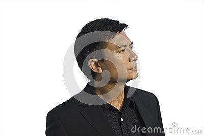Isolated man portrait