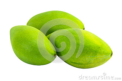 Isolated  mangoes
