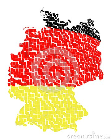 Isolated map of germany 11