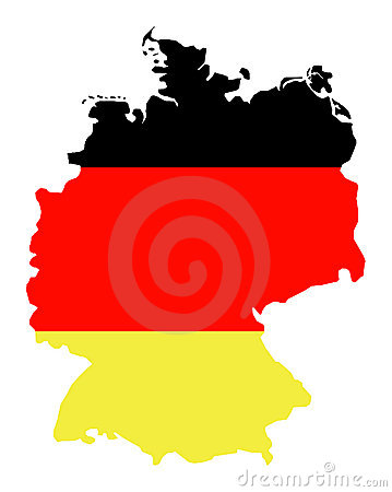 Free Isolated Map Of Germany 01 Stock Image - 1259891
