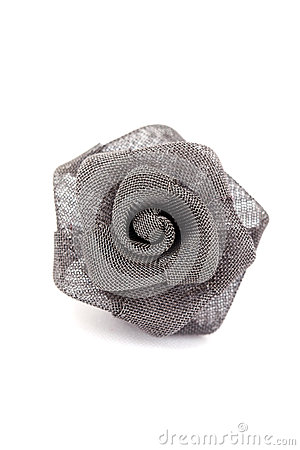 Isolated metal rose earring