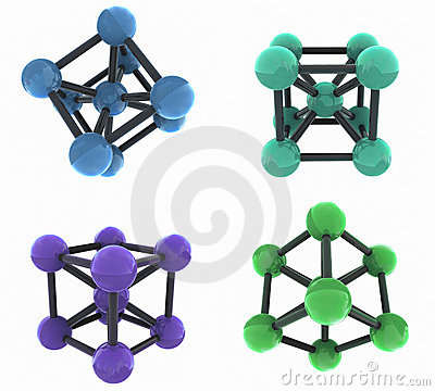 Free Isolated Molecules Stock Images - 4103254