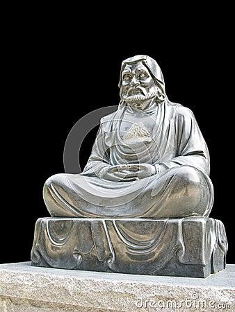 Isolated Monk buddhist statue