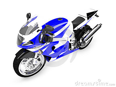 Isolated motorcycle front view