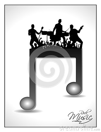 Isolated musical note having on disco