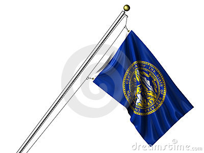 Isolated Nebraska Flag