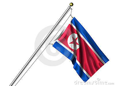 Isolated North Korean Flag