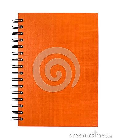 Isolated orange notebook