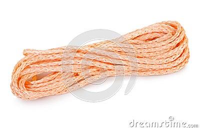 Isolated orange rope