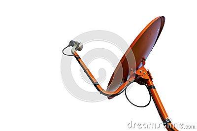 Isolated Orange Satellite Dish