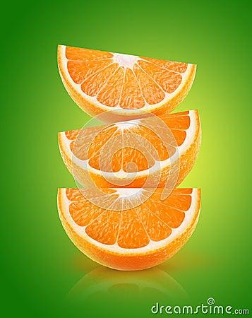 Free Isolated Orange Wedges Stock Images - 120789484