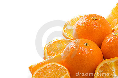 Isolated oranges