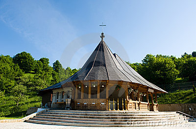 Wooden chapel near the forest