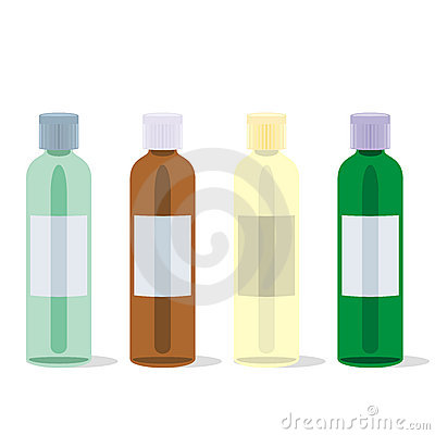 Isolated painkillers bottles set