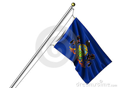 Isolated Pennsylvania Flag