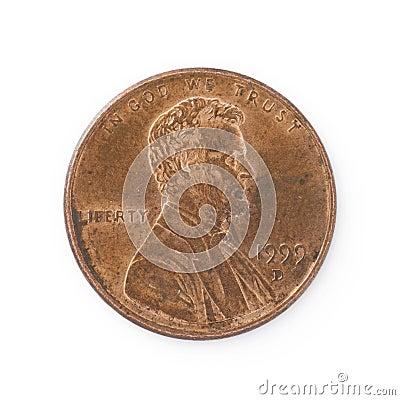 Free Isolated Penny Stock Photo - 7839600