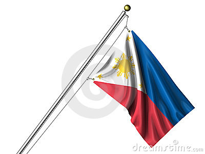 Isolated Philippines Flag