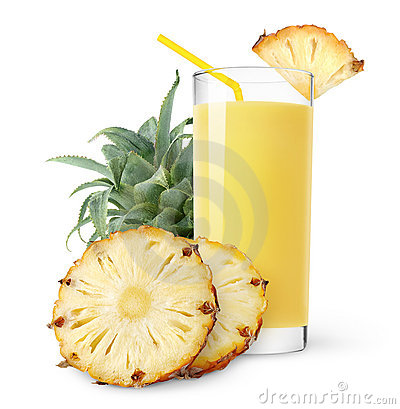 Free Isolated Pineapple Juice Royalty Free Stock Photo - 17285905