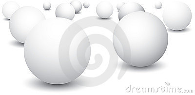 Isolated ping pong balls